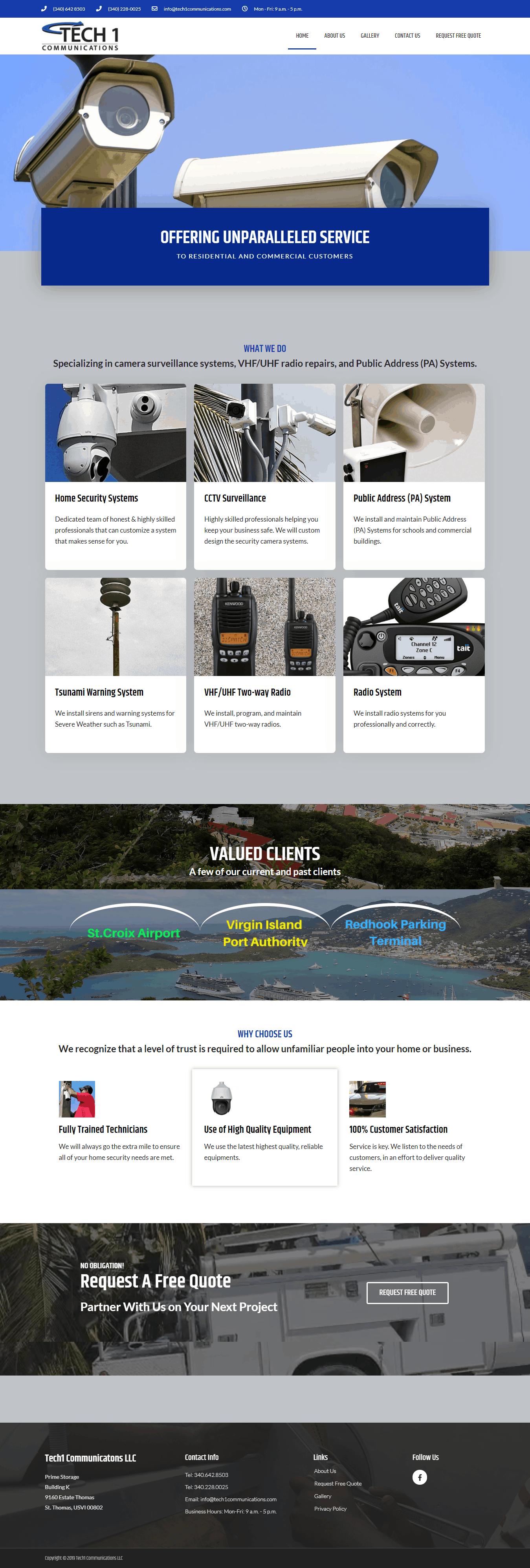 Project Tech1 Communications