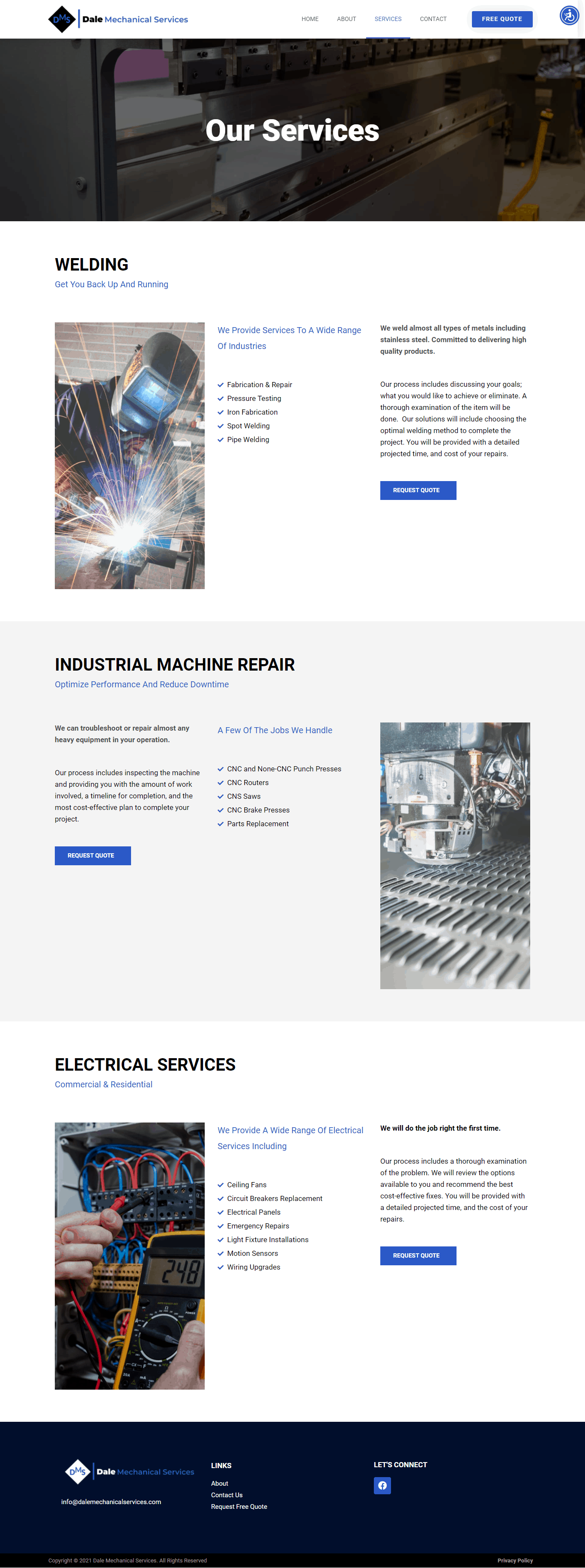 Project Dale Mechanical Services